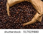 roasted coffee beans | Shutterstock . vector #517029880