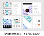 geometric background template... | Shutterstock .eps vector #517031320