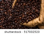 roasted coffee beans | Shutterstock . vector #517032523