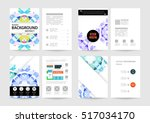 geometric background template... | Shutterstock .eps vector #517034170