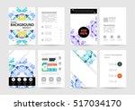 geometric background template... | Shutterstock .eps vector #517034170
