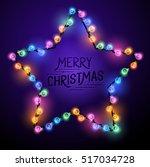 christmas star    seasonal... | Shutterstock .eps vector #517034728