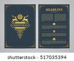 christmas greeting card design. ... | Shutterstock .eps vector #517035394