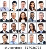 collection of portraits of... | Shutterstock . vector #517036738