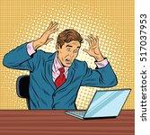businessman in panic  reading... | Shutterstock .eps vector #517037953