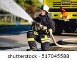firefighters in training | Shutterstock . vector #517045588