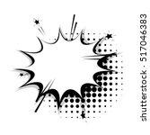 blank template comic text... | Shutterstock .eps vector #517046383