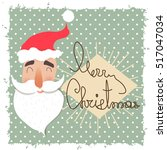 santa claus happy face. cartoon ...   Shutterstock .eps vector #517047034