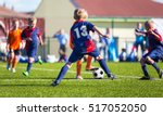 boys play football  children... | Shutterstock . vector #517052050