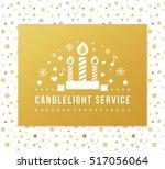christmas eve candlelight... | Shutterstock .eps vector #517056064