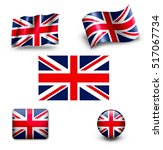 united kngdom flag icon set uk | Shutterstock . vector #517067734