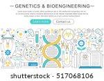 vector elegant thin flat line... | Shutterstock .eps vector #517068106