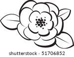 outline of a flower | Shutterstock .eps vector #51706852