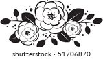 black and white trio of flowers | Shutterstock .eps vector #51706870