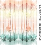 palm tree print with stripes... | Shutterstock . vector #517068796