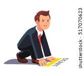 business man in starting... | Shutterstock .eps vector #517070623