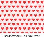 seamless red heart pattern | Shutterstock .eps vector #517072990