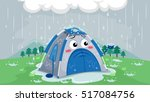 mascot illustration of a sad... | Shutterstock .eps vector #517084756