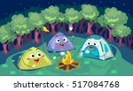 mascot illustration of a group... | Shutterstock .eps vector #517084768