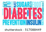 diabetes word cloud on a white... | Shutterstock .eps vector #517088449