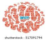 empathy brain word cloud on a... | Shutterstock .eps vector #517091794