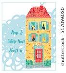sweet home   card  ... | Shutterstock .eps vector #517096030