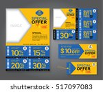 sale flyer  promotions coupon... | Shutterstock .eps vector #517097083