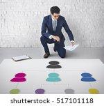 analyze chart information... | Shutterstock . vector #517101118