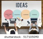innovation start up creative... | Shutterstock . vector #517105090
