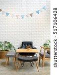 cozy sofa corner in modern... | Shutterstock . vector #517106428