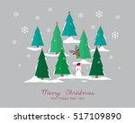 merry christmas and happy new... | Shutterstock .eps vector #517109890