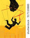 escaping a controlling boss a... | Shutterstock .eps vector #517110880