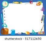 border template with school...   Shutterstock .eps vector #517112650