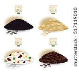 rice grains isolated on white... | Shutterstock .eps vector #517119010