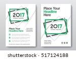 green color scheme business... | Shutterstock .eps vector #517124188