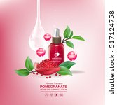 pomegranate collagen and serum... | Shutterstock .eps vector #517124758