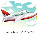 airplane flying in the sky... | Shutterstock .eps vector #517126210