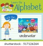 flashcard letter u is for... | Shutterstock .eps vector #517126264