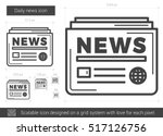 daily news vector line icon... | Shutterstock .eps vector #517126756