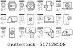 mobility vector line icon set...   Shutterstock .eps vector #517128508