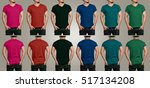 various color of t shirt mockup ...   Shutterstock . vector #517134208