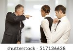 Small photo of Arguing, conflict, business concept. The conflict between businessmen