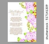 vintage delicate invitation... | Shutterstock .eps vector #517141309