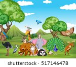 forest scene with many wild... | Shutterstock .eps vector #517146478