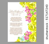 invitation with floral... | Shutterstock .eps vector #517147240