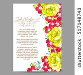 romantic invitation. wedding ... | Shutterstock .eps vector #517148743