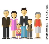 portrait of happy big family... | Shutterstock .eps vector #517150408