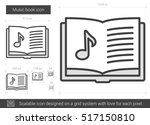 music book vector line icon...   Shutterstock .eps vector #517150810