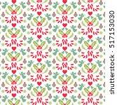 vector christmas pattern | Shutterstock .eps vector #517153030