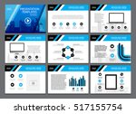 page layout design template for ... | Shutterstock .eps vector #517155754